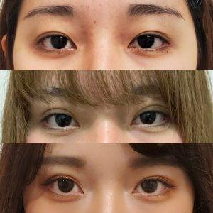 美人は目と眉の距離が近い